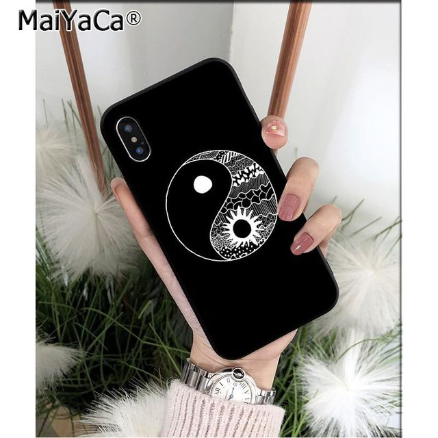 MaiYaCa Eight Diagrams Taiji Yin Yang TPU Soft Phone Case for iPhone X XS MAX 6 6S 7 7plus 8 8Plus 5 5S XR 11 11pro max