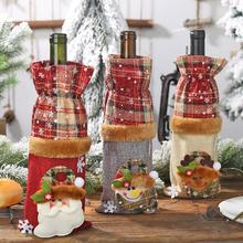 Christmas Cartoon Wine Bottle Cover Champagne Bag Creative Family Holid