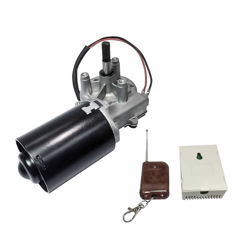 45GZ6299 DC Door Motor 24V 50RPM 45W 15A DC Left & Right Angle Reversible Electric Gear Motor for BBQ with Double Flat Shaft