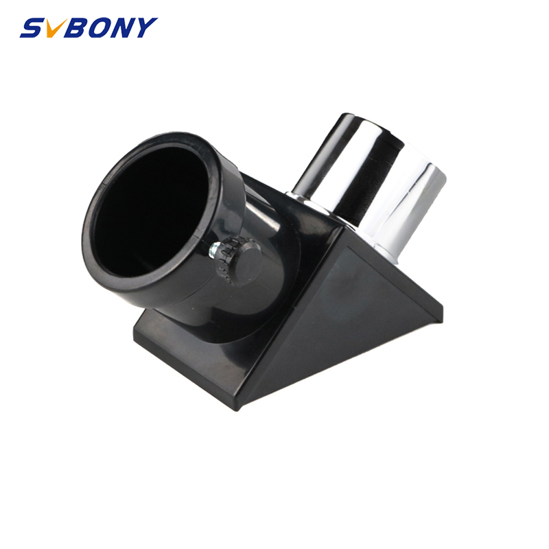 "SVBONY 1.25"" 90 Degree Diagonal Adapter Erect Image Zenith Mirror Prism Metal&Plastic for Refracting Telescope Eyepiece Lens