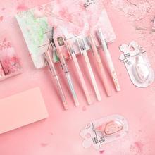 Jianwu 11 Stks/set Sakura Serie Limited Set Leuke Planner Dagboek Journal Briefpapier Set Student Geschenken Shcool Supplies Kawaii