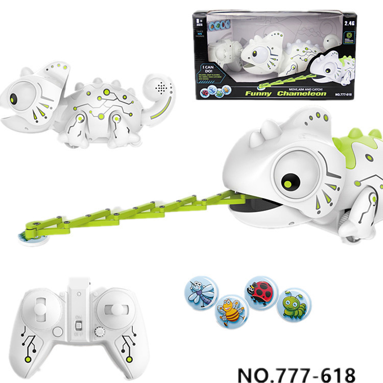RC Animal Smart Chameleon Pet Toys Light Changeable Electronic Intelligent 2 4G 20m Remote Control  Walks and Wags Animal Toy