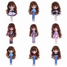 Blyth Doll Clothes 13 Styles 1 Set Clothes=Sweater+Jeans For BJD 30 Cm 1/6 Blyth Doll Dress For Generation Girl`s Christmas Toy lovely dress for blyth doll clothes christmas gift toy dress for blyth doll 1 6 30cm doll