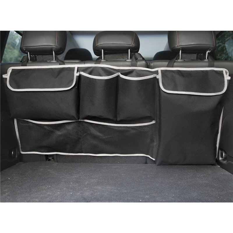 NEW-Car Trunk Organizer Back Seat Storage Box Bag 100cm Oxford Car Multi-Function Bag Black