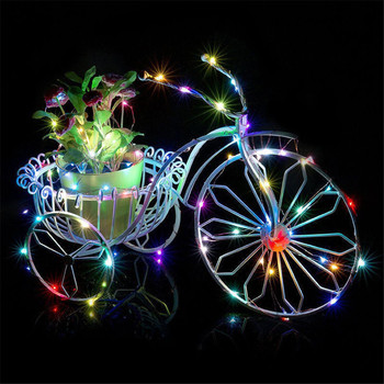 2M 20Lights Outdoor Solar Powered Copper Wire Light String Fairy Party Decor lamparas led decorativa