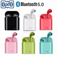 Bluetooth-наушники i7s, беспроводные наушники, водонепроницаемые наушники для Huawei OPPO, спортивные наушники-вкладыши, TWS гарнитура для воспроизведе...