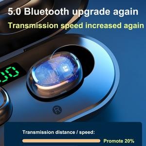 Image 4 - B5 tws display led bluetooth 5.0 fones de ouvido sem fio esportes à prova dmini água mini fones com microfone caixa carregamento