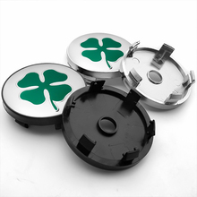 4pcs 56/60mm Four Leaf Clover logo Car Wheel Center Hub Cap auto Rim refit Badge Creative Emblem Cover sticker Car accessories a set 4pcs car styling refit wheel sticker reflective rim car accessories for citroen c3 xr c3 xr car hub stickers yongxun