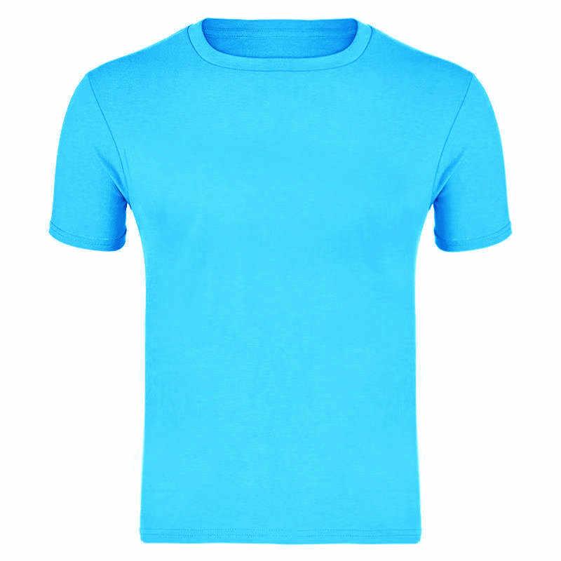 2019 Hoge Kwaliteit Fashion Mens T Shirts Casual Korte Mouw T-shirt Mens Solid Casual Katoenen T-shirt Zomer Kleding S-XXXL