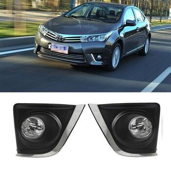Magia ColorM bombilla halógena coche de la izquierda y la derecha luz antiniebla del parachoques delantero para Toyota Corolla Altis 2014-2016 luz antiniebla para coche de la Asamblea