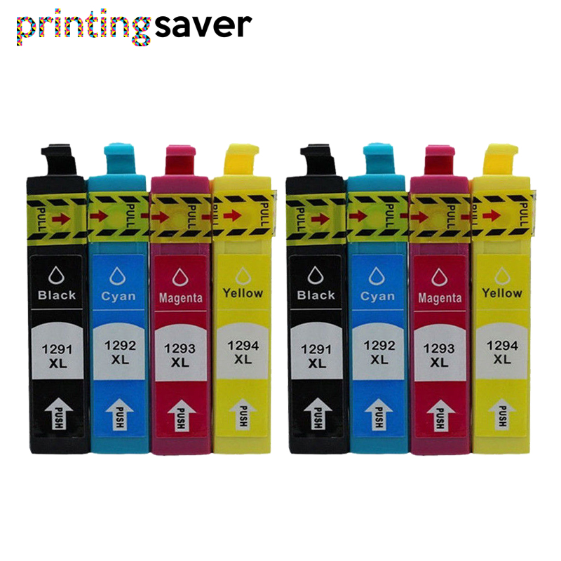 8PCS Compatible T1291 - T1294 T1295 Ink cartridge for EPSON 129XL stylus SX235W SX425W SX420W SX438W SX525WD SX535WD Printer