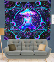 Purple mushroom Indian Mandala Tapestry Wall Hanging Bohemian Gypsy Psychedelic Tapiz Witchcraft Tapestry