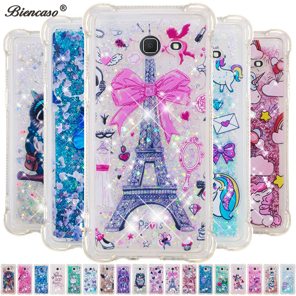 Glitter Liquid Quicksand Cases For <font><b>Samsung</b></font> Galaxy <font><b>J3</b></font> J5 J7 <font><b>2017</b></font> J120 J510 J710 <font><b>J3</b></font> Emerge J2 Pro 2018 Grand Prime G530 Cover B31 image