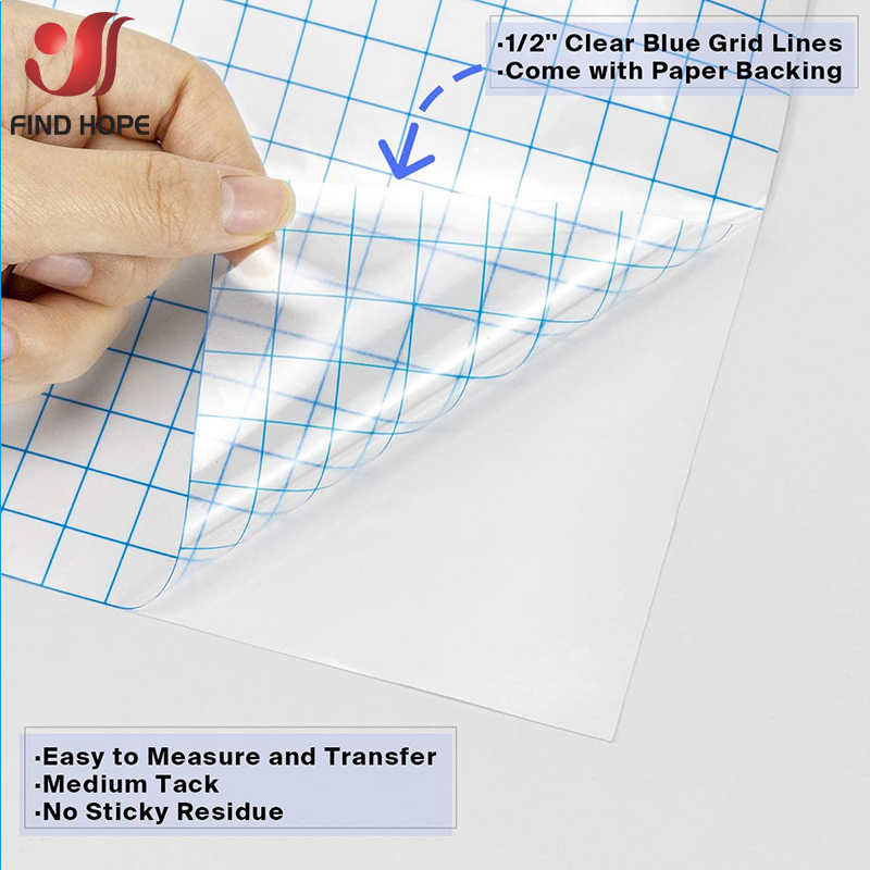 Mid Tack Clear Application Transfer Tape Sign Vinyl Sticker Cutting Craft Decals