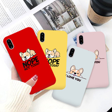 GYKZ Cute Corgi Lover Couple Case For iPhone X XS MAX XR 7 6 6s Plus Cartoon Dog Soft Matte Phone Cover 8 Letter Capa