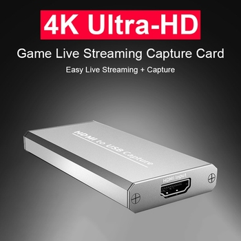 USB 3.0 1080P 4K HD Video Capture HDMI Game Capture Card Suitable for Game Live Broadcasts Video Recording
