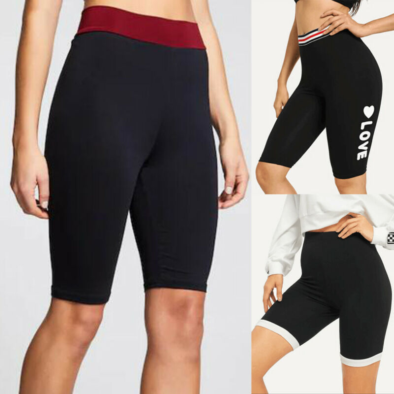 Women Compression Sport Shorts Leggings With Pocket Running Exercise Tight Short Running Short Gym Sport Shorts Workout Athletic