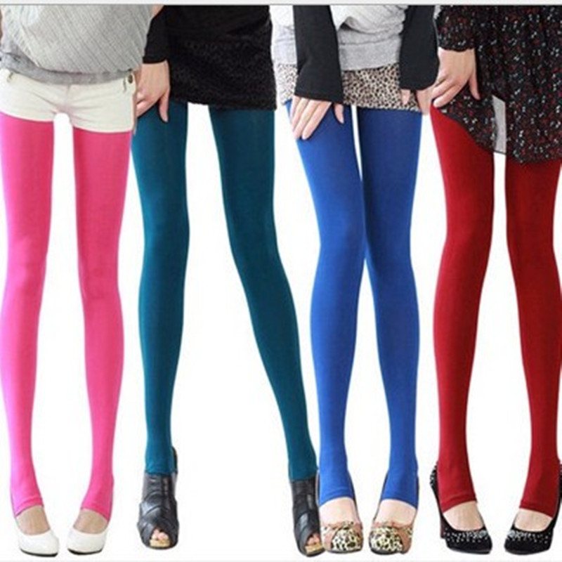 Jeseca Candy Colors 120D Velvet Pantyhose 2019 Hot Women Sexy Tights Ladies Elastic Winter Thick Tights Pantyhose Plus Size