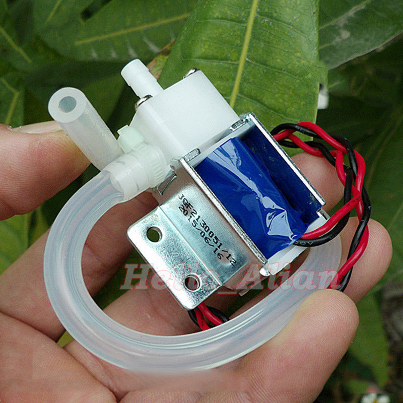 DC 12V Micro Electric Solenoid Valve N/O Normally Open Mini Water Air Valve Breast Pump + Tube