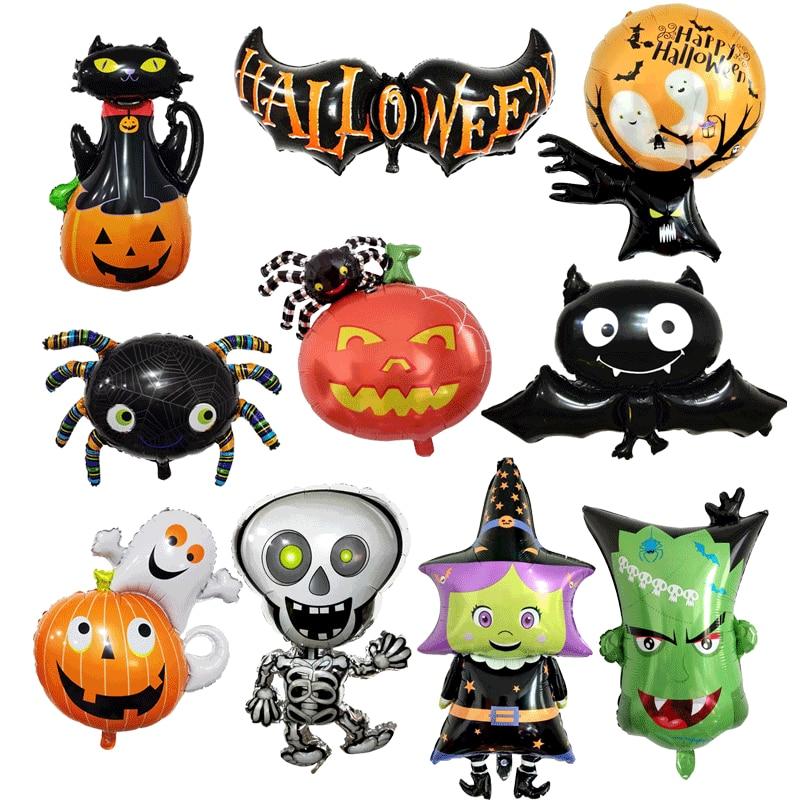 Halloween Aluminum Film Balloon Pumpkin Spider Ghost Tree Owl Wizard Party Balloon Halloween Balloon