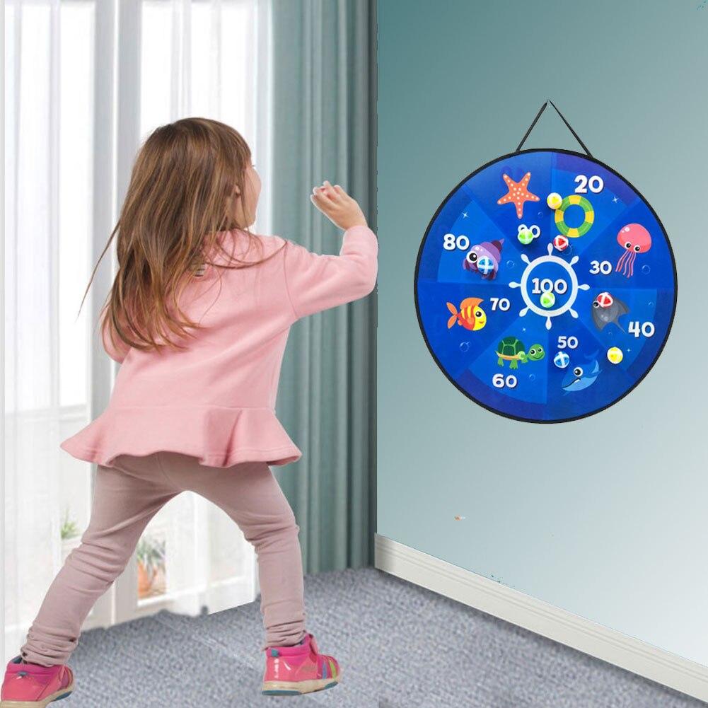 Детская игрушка-мишень 66 см, безопасный липкий мяч из ткани, качественные мишени, дротики, игрушка для дома и улицы, игрушка для родителей и д...