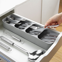 New Cutlery Storage Box Drawer Compartment Finishing Soup Spoon Separate Kitchen Tray