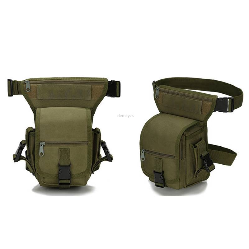Military Tactical Drop Leg Pouch Portable Outdoor Hiking Cycling Hunting Leg Bag Adjustable Army Drop Thigh Pouch Multi-Purpose