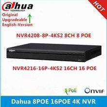 Видеорегистратор Dahua, 8 каналов, PoE-порт, 16 каналов, 4K, NVR, 1U, сетевой видеорегистратор, 16 каналов, PoE-порт, с поддержкой 4K, NVR, 1U