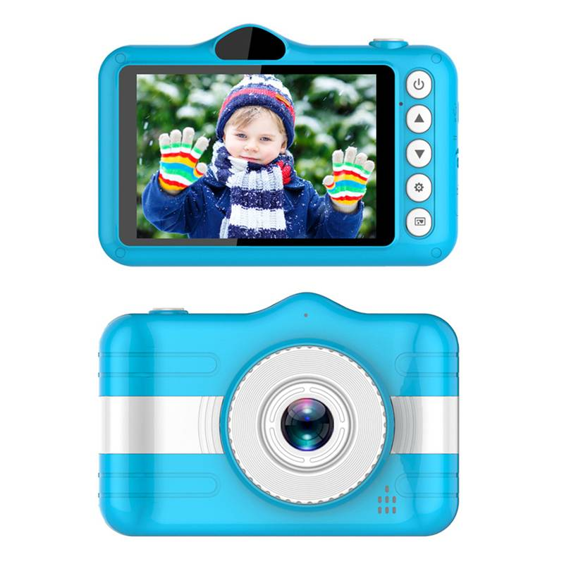 Mini Digital Camera 3.5 Inch Cartoon Cute Camera Toys Children Birthday Gift 1080P Toddler Toys Students Education Video Camera