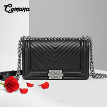 Classic Diamond Lattice Women Chain Bag Brand Luxury Genuine Leather Shoulder Bag Sheepskin Leather Lady Crossbody Messenger Bag недорго, оригинальная цена