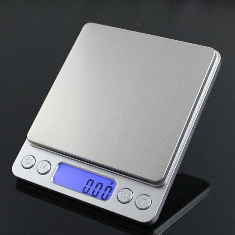 Cozinha Balanças Eletrônicas de precisão Digital Escala de Equilíbrio de Peso Jóias Food Diet Balança de Alta Precisão com 2 Desvia