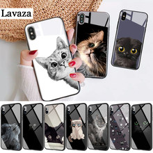 64d Black Cat Green Eyes Protector Glass Case for Huawei P10 P20 P30 Lite Pro P Smart Y6 Primr Y9 Mate 20 Honor 7A Pro 8X 9 10(China)