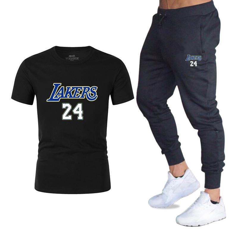 Men's Sets T Shirts+Pants Men Brand Two Piece Suit Tracksuit 2020 Male Casual Tshirts Workout Fitness Sets Jogger Suits For Men