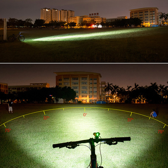 TSLEEN nuit équitation course XM-L T6 phare 4 Modes 6000 Lumens LED lumière de vélo T6 puce lampe LED de vélo batterie de phare