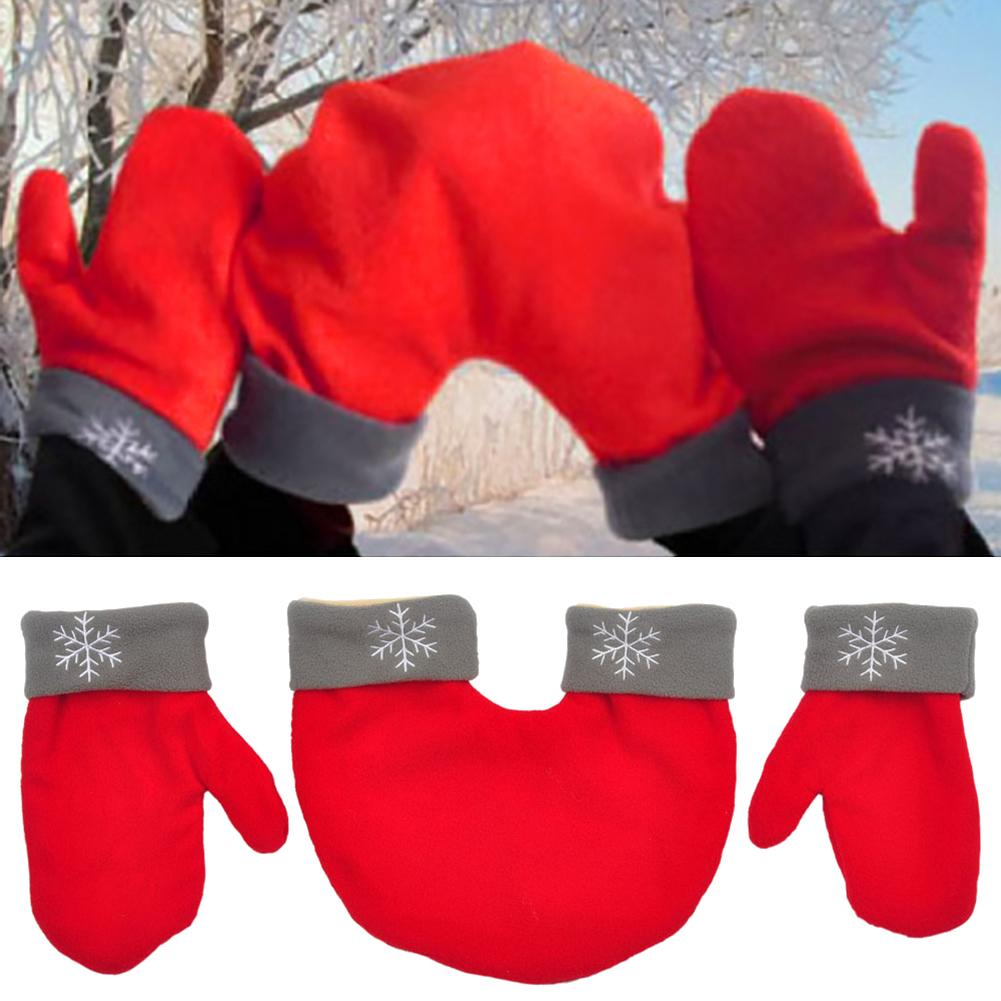 2020 Winter Warm Full Finger Couple Double Mittens Friend Lovers Sweet Gloves Gift