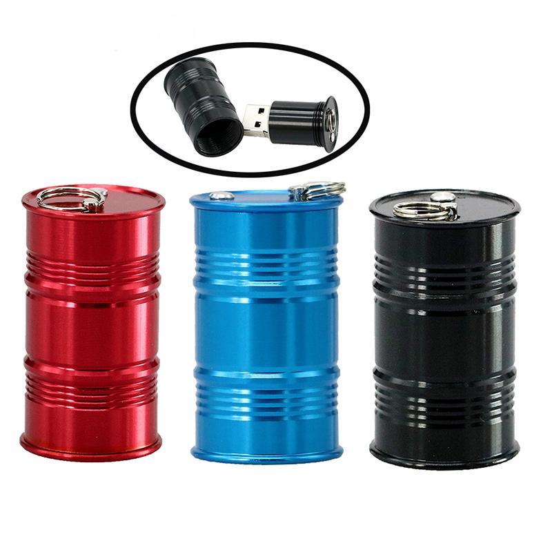 HOT Metal Oil Tank USB Flash Drives Oil Bottle Pendrive 128GB 64GB 32GB 16G 8G 4GB Pen Drive Memory Stick Pendriver U Disk