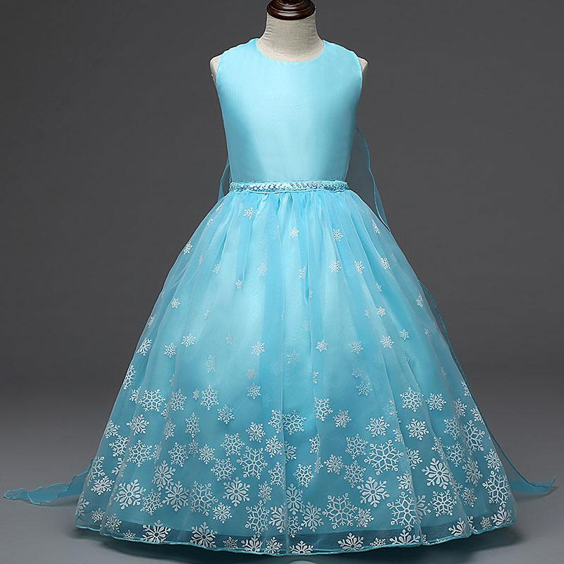 H43a3376da5054fab98fb47cb4228ef71i Girls Elsa Dress Costume Princess Anna Dresses Cosplay Party Summer Baby Kids Children Fancy Baby Girl Clothes elza vestidos