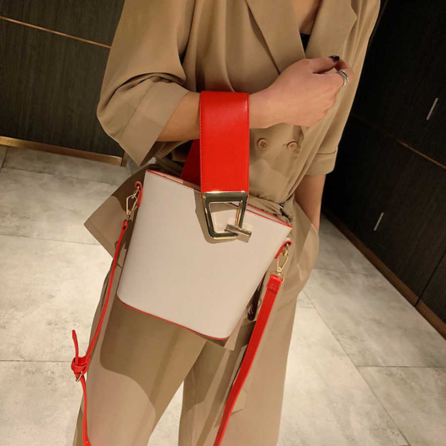 Casual กว้างสายคล้องกระเป๋าผู้หญิงกระเป๋าถือแฟชั่น PU ไหล่กระเป๋าขนาดใหญ่ความจุกระเป๋า Messenger 2019 Designer กระเป๋า