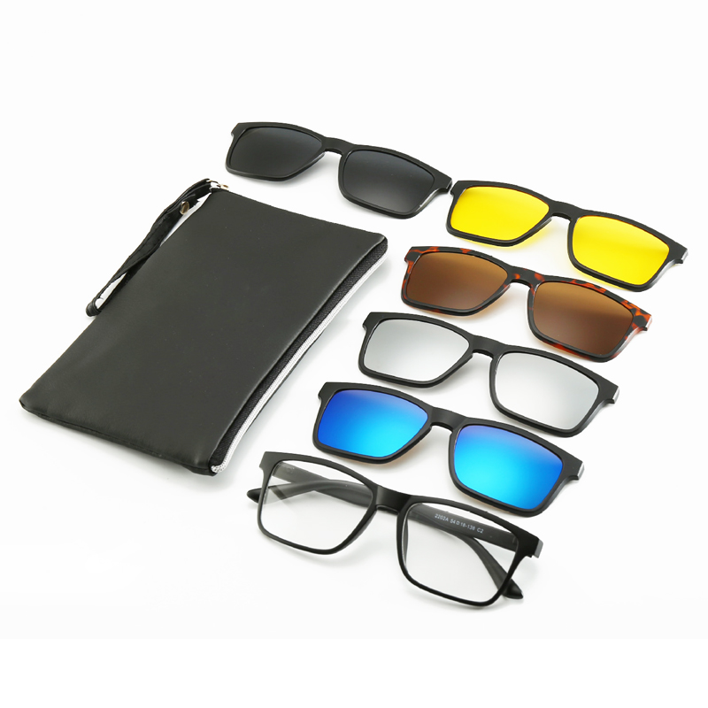 6 <font><b>In</b></font> <font><b>1</b></font> Custom <font><b>Men</b></font> Women Polarized Optical <font><b>Magnetic</b></font> <font><b>Sunglasses</b></font> <font><b>Clip</b></font> Magnet <font><b>Clip</b></font> <font><b>on</b></font> <font><b>Sunglasses</b></font> Polaroid <font><b>Clip</b></font> <font><b>on</b></font> Sun Glasses Frame image