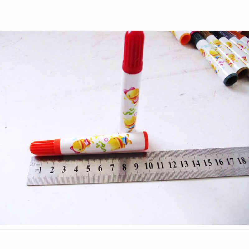 Канцелярские товары 24 цвета акварельные ручки Рисование комиксов каллиграфия надпись Живопись Дети Цветные Маркеры кисти ручки набор