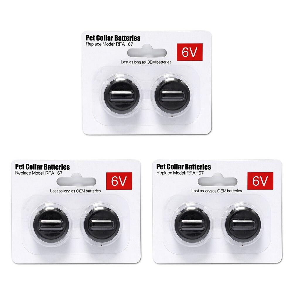 6Pcs/ Bag 6V Pet Collar Batteries Compatible With PetSafe RFA-67 6 Volt 280mAh Replacement Battery