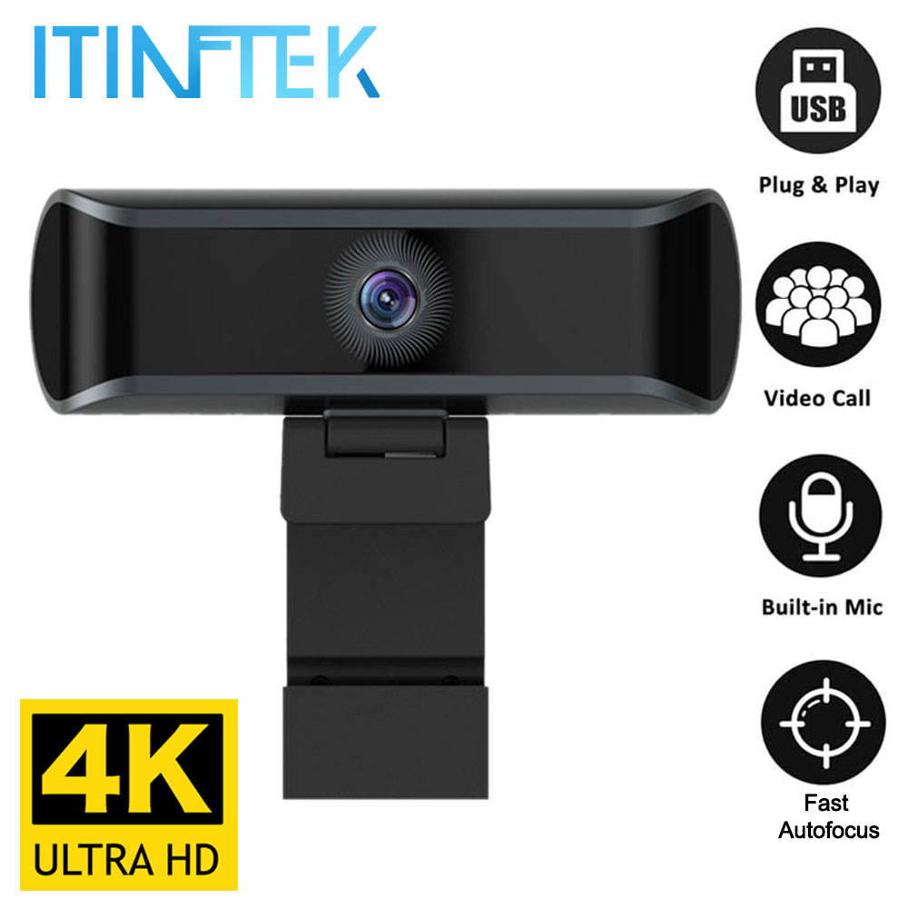 W7 Full 4K HD 1080P Webcam Auto/Manual Focus Web Camera with Microphone Mic Live Streaming Video Work USB Cam PC Laptop Computer|Webcams| - AliExpress