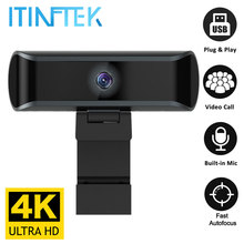 W7 Full 4K HD 1080P Webcam Auto/Manual Focus Web Camera with Microphone Mic Live Streaming Video Work USB Cam PC Laptop Computer