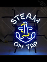 NEON SIGN For Tattoo Stea on tap Real GLASS BEER BAR PUB display Commercial Light Vintage Garage Lighting Neon Light Real Glass