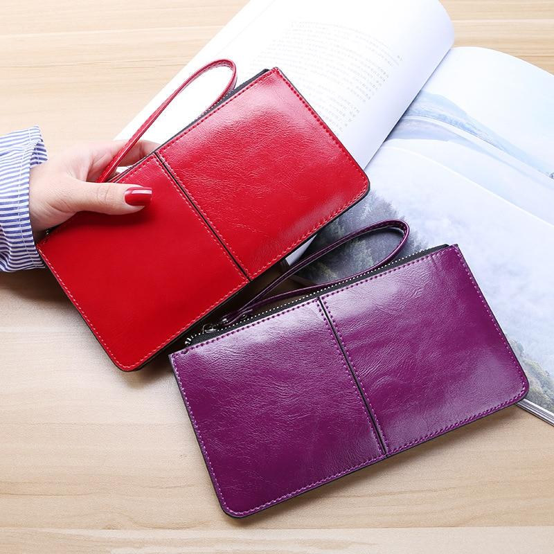 2019 Luxury Women's Wallet Ladies PU Leather Long Women's Mobile Phone Bag Card Bag Handbag Fashion Convenient Wallet Women