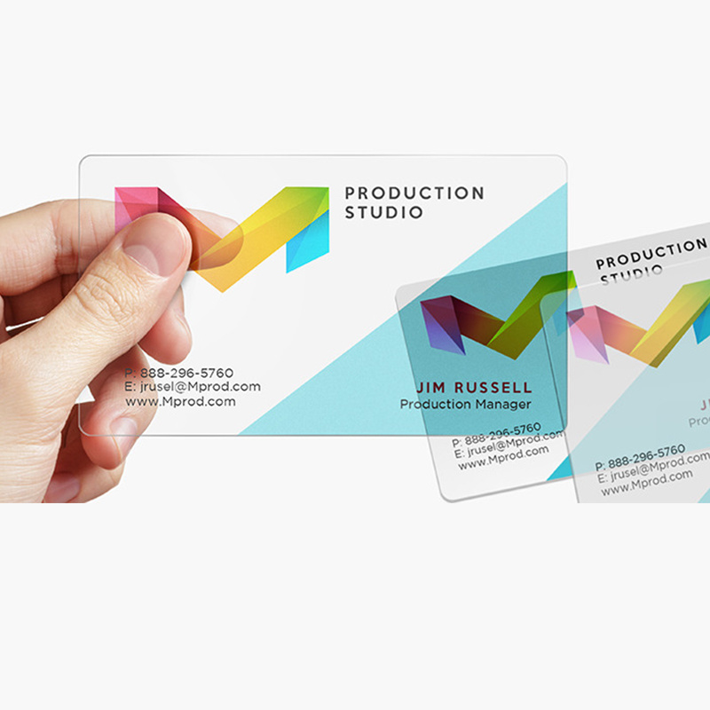 200/500sheets Custom Printing Transparent PVC Plastic Business Cards Waterproof Calling Visiting Card For One Design