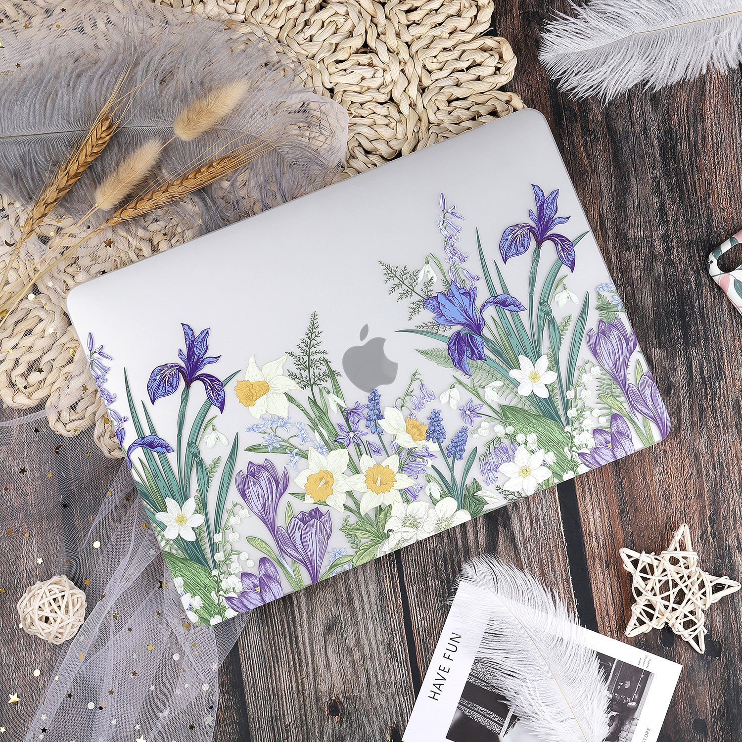 Marble Flower Pattern Case for MacBook 77