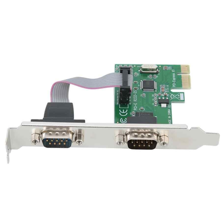 Компьютер COM к RS232 порт двойной последовательный порт Расширение карты адаптер переходная карта для Windows 2000/XP/сервер 2003/XP 64 бит