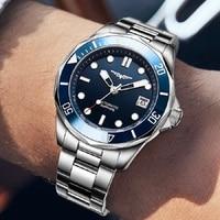 CADISEN-Reloj de pulsera para hombre, de lujo, con bisel de cerámica, automático, reloj con cristal de zafiro, luminoso, Masculino