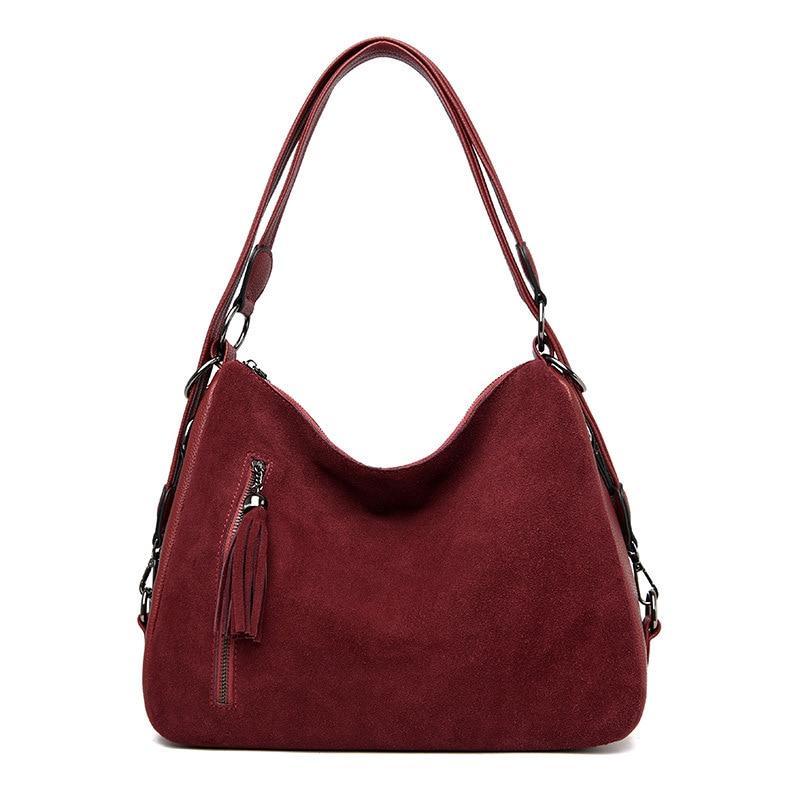 Shoulder Bags For Women Vintage Handbags Large Capacity Suede Tote Handbags For Autumn & Winter 2020 Crossbody Bags